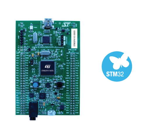 STM32F411E-DISCO board photo