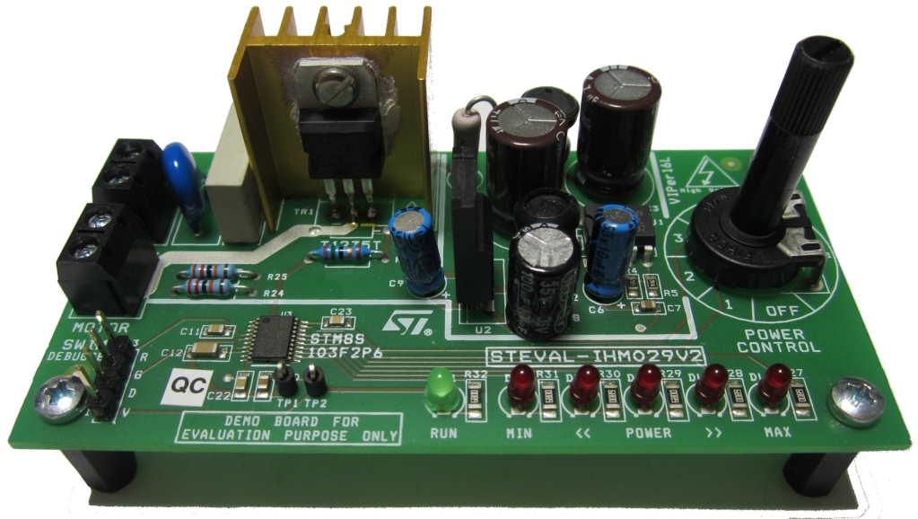 Steval Ihm029v2 Universal Motor Control Evaluation Board Based On Speed Circuit Image