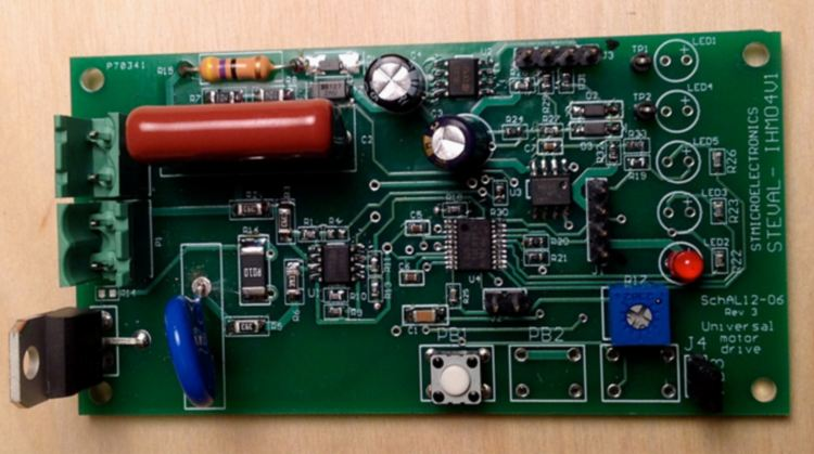 Steval Ihm041v1 Universal Motor Driver With Speed