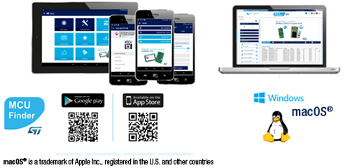 st mcu finder stm32 and stm8 product finder for mobile devices and
