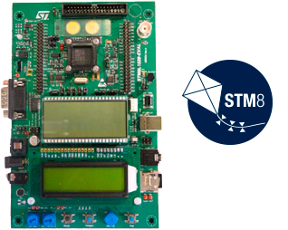 STM8L1528-EVAL board photo