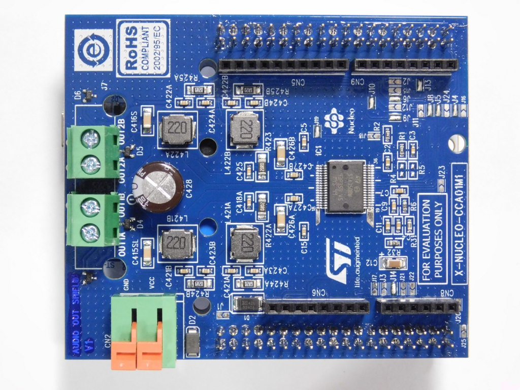 X-NUCLEO-CCA01M1 - Sound terminal expansion board based on STA350BW
