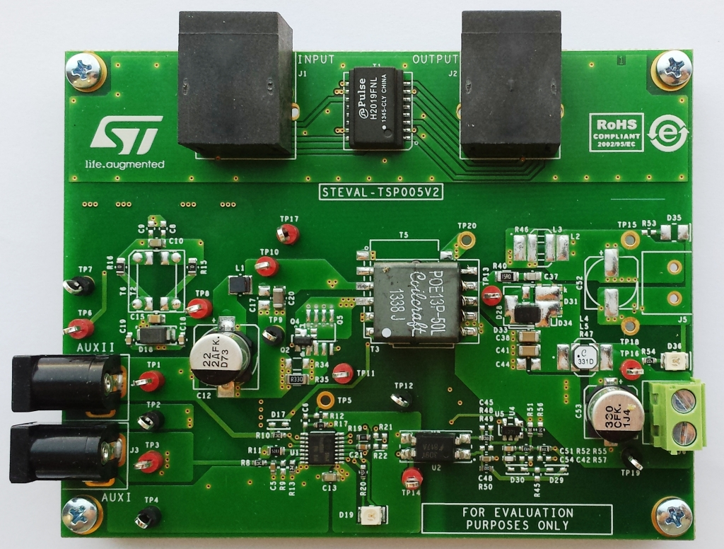 STEVAL-TSP005V2 - Power over Ethernet - PD converter with 5 V 2 A