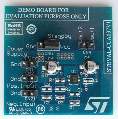 STEVAL-CCA037V1 - Amplifier based on the TS4990IQT - STMicroelectronics