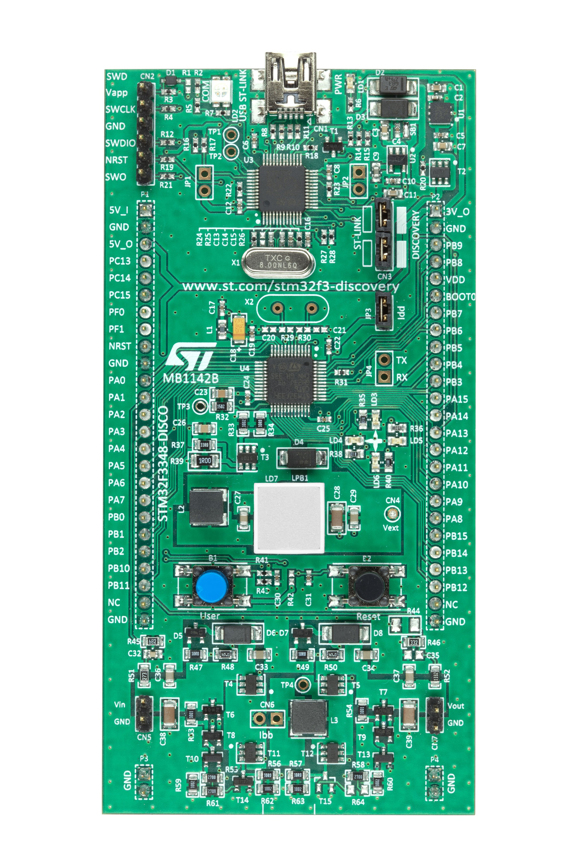 STM32F3348-DISCO board photo