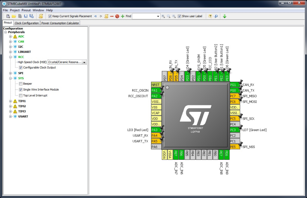 STM8CubeMX tools photo