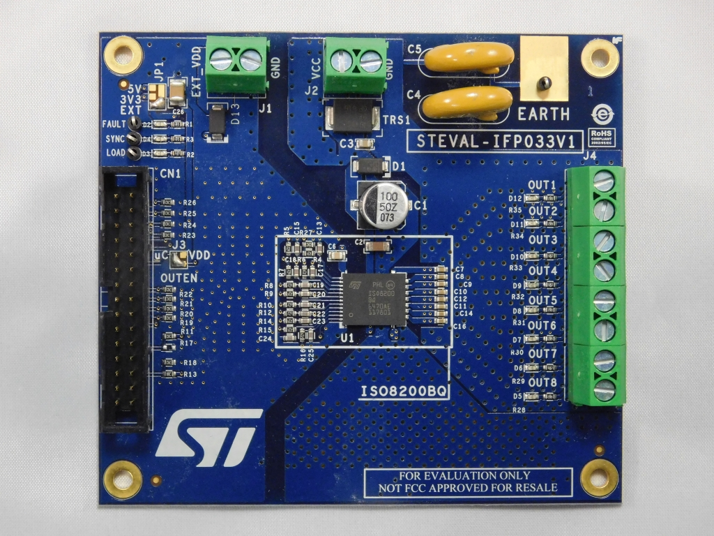 STEVAL-IFP033V1 - Galvanically-isolated 8 channel high-side driver