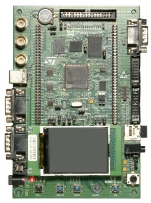 STM3210E-EVAL board photo
