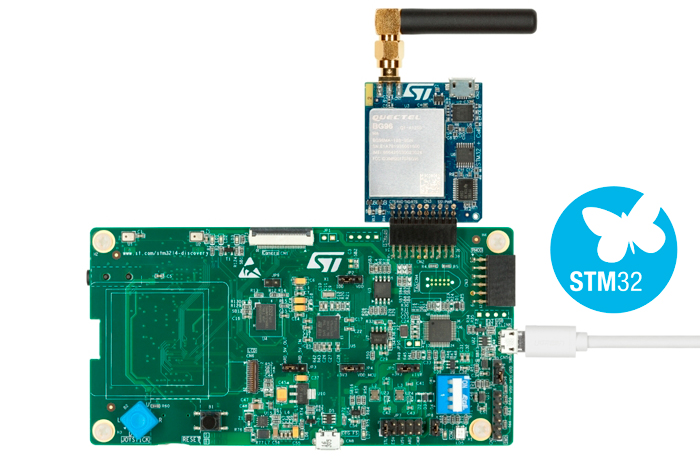 LTE Cellular to Cloud Pack with STM32L496AG MCU (board photo)