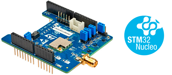 I-NUCLEO-LRWAN1 - USI® STM32™ Nucleo expansion board for LoRa