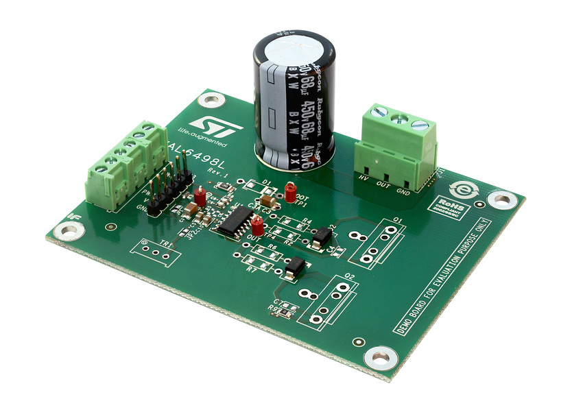 Eval6498l Evaluation Board For The L6498l Gate Driver Bridge Motor Control With Power Mosfets Image