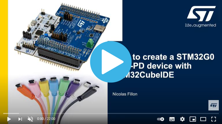 How to Create a STM32G0 USB-PD Device with STM32CubeIDE